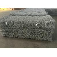 China Hot Dipped Galvanized Gabion Wall Mesh / Stone Cage Wire Mesh Customized on sale
