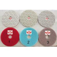 Orbital Sander Marble 3 Step Diamond Polishing Pads  , Grinder Concrete Polishing Discs Manufactures