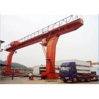 L Type Single Beam Gantry Crane With Hook Low Noise Custom Span Electric Motors Manufactures