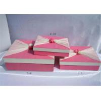 China Pink Biodegradable Cardboard Paper Folding Gift Boxes For Stationery on sale