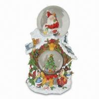 Xmas Snow Globe, Made of Polyresin, Available in Various Designs Manufactures