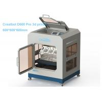 Quality 0.05mm Presision Industrial 3D Printing Machine Creatbot D600 Pro Auto Leveling for sale