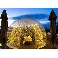 PVC Clear Bubble Blow Up Party Tent PVC 1.0mm Material For Outdoor Restaurant Manufactures
