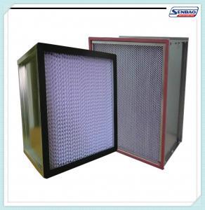 China Deep Pleated High Temp Hepa Filters Stainless Steel / Aluminum Frame on sale