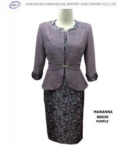 China Fashion Ladies Suits Styles MANANNA 80039 Purple/Grey on sale