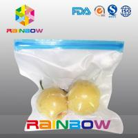 Quality Poly vacuum texture food storage pouch / slider zipper food vacuum seal bags for sale