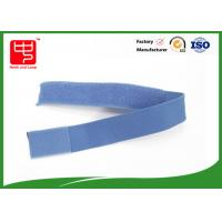 Blue color strong Elastic hook and loop Straps nylon hook and loop Eco - friendly Manufactures