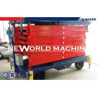 6-18 M Hydraulic Platform Lift Mobile Scissor Lift With Electric Motor Manufactures