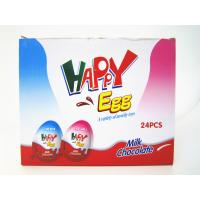 Milk And Chocolate Chips Cookies Flavor Happy Egg In Box With a Lovely Toy Manufactures