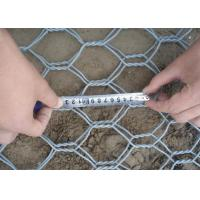 Heavy Zinc Stone Cages For Retaining Walls , Gabion Wire Mesh 3.5 Wire Daimeter Manufactures