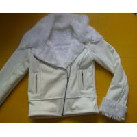 100 Polyester Bomber Jacket , Suede And Fur Joint Ladies Hooded Jacket Manufactures