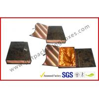 Leather Rigid Gift Boxes For Luxury Gift Packing , Embossed Foldable Manufactures
