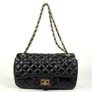 Black Leather Shoulder Bag (EF101263-3) Manufactures