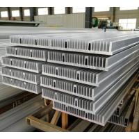 Large size silver anodized extruded aluminum heatsink profile for industrial machine Manufactures