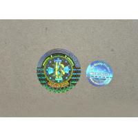 China QC Passed Transparent Hologram Stickers , Multi Color Hologram Security Labels on sale
