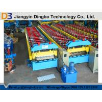Hydraulic Control Roof Panel Roll Forming Machine Automatic Stacking Machine Chain Transmission Manufactures