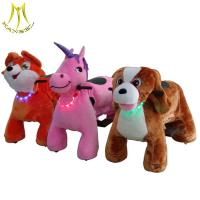 Quality Hansel wholesale Guangzhou  fairground ride children animal bike electric walking horse toy for sale