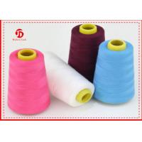 100% Polyester Spun Yarn Virgin Dyed Colour 30s For Weaving , Knitting Manufactures