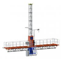Quality Double and Single 200m Mast Climbing Work Platforms For Hotel Cleaning, High for sale