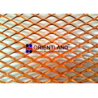 Small Hole Raised Copper Expanded Metal Mesh Diamond Hole In Rolls for sale
