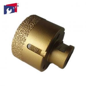 Golden Porcelain Tile Drill Bit , Hollow Diamond Drill Bits 5 / 8-11 Thread Manufactures