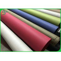 China Anti Tear multiple colour 0.55mm 0.8mm Thick Washable Eco Paper Rolls 150CM Width on sale