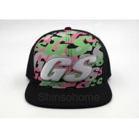 Quality Hip Hop 100% Cotton Printed Baseball Caps 6 Panel Adjustable 56 - 60cm for sale