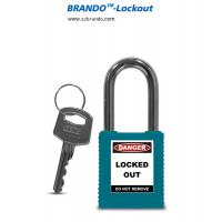 China Blue plastic industrial stainless steel shackle security padlock on sale
