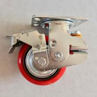 China 6 Inch PU Shock Absorbing Casters Load Protection Reduces Rolling Noise on sale
