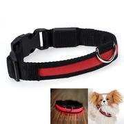 Quality Red LED Flashing Nylon Dog Collar (Super bright) for sale
