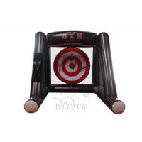 China 2019 Hot game outdoor inflatable Single Axe throwing game, Lumberjack throw sport games for sale on sale