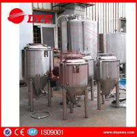 Durable Beer Brewing Equipment Conical Fermenter 50mm 80mm 100mm Thickness Manufactures