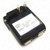 Buy cheap 2-port USB AC Adapter with 5V DC/450mA Output Power from wholesalers