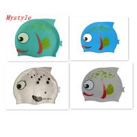 Quality children cartoon swimming cap for sale