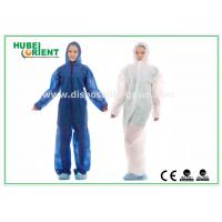 Hooded Disposable Protective Coverall With Elastic Wrist / Ankle / Waist,with feetcover or without feetcover Manufactures