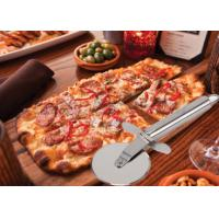 Custom SS304 Stainless Steel Kitchen Tools Pizza Cutter With PP Wooden Handle Manufactures