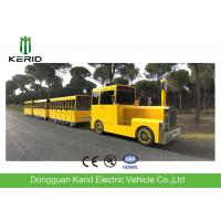 Gasoline Power 62 Seats Mini Trackless Train , Ride On Tourist Train For Attractions Manufactures