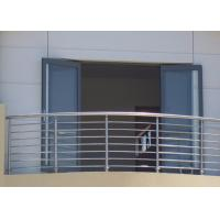 China Stable Structural Steel Railing Design For Balcony Practical Decorative Protrusions on sale