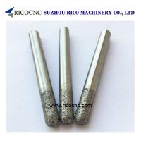China Flat-End Sintered Diamond Granite Router Bits Hard Stone Cutting Tool CNC Milling Tools on sale