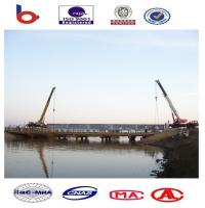 Prefabricated Steel Girder Bridge Heavy Capacity With composite bridge deck Manufactures