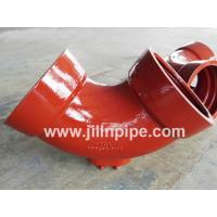 China Ductile iron pipe fittings,  double socket bend with outlet. on sale