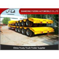 150 - 200 Ton Heavy Duty Lowboy TrailerFor Construction Machines 4 Lines 8 Axles Manufactures