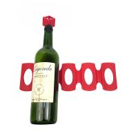 Perfect Fridge Storage Small Wine Rack , 306*95mm Silicone Wine Bottle Holder Manufactures