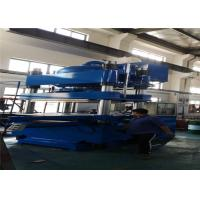 China Ergonomic Plate Vulcanizing Machine 1000 Ton Inverted Rubber Bearing Presser Double Layer Molds Design on sale