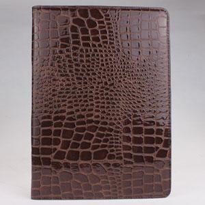 fashion crocodile skin desgin protective case for ipad air -black and brown Manufactures