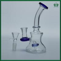 Showerhead Perc  Glass Smoking Water Pipe Bubbler 150g 8 Inches Blue Color Manufactures