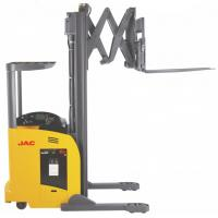 1.8 Ton Reach Truck Forklift Forward Double Scissor 36V Electric Control High Efficiency Manufactures