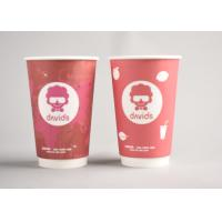 Red Custom Printed Disposable Coffee Cups To Go For Office / Home Manufactures