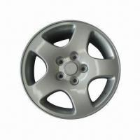 Alloy Car Wheels, Made of Aluminum, with 16-inch Diameter and Slive Finishing Manufactures