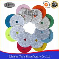 China Various Color Granite Marble Diamond Polishing Pads Fast Speed  on sale